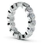Bezel Diamond Eternity Ring in Platinum (2 ctw) | Thumbnail 04