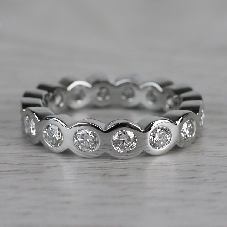 Bezel Diamond Eternity Ring in Platinum (2 ctw)   05