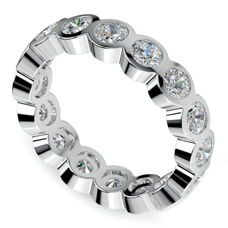 eternity halo two by london bands bezel band diamond oval
