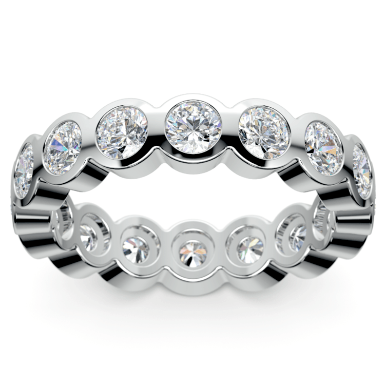 Bezel Diamond Eternity Ring in Platinum (2 ctw) | 02
