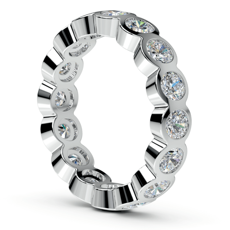Bezel Diamond Eternity Ring in Platinum (2 ctw) | 04