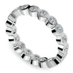 Bezel Diamond Eternity Ring in White Gold (1 ctw) | Thumbnail 01
