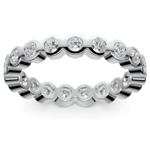 Bezel Diamond Eternity Ring in White Gold (1 ctw) | Thumbnail 02