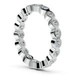 Bezel Diamond Eternity Ring in White Gold (1 ctw) | Thumbnail 04