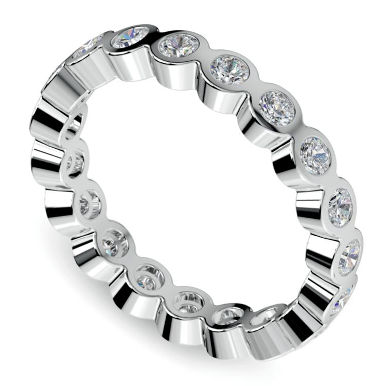 Bezel Diamond Eternity Ring in White Gold (1 ctw) | 01