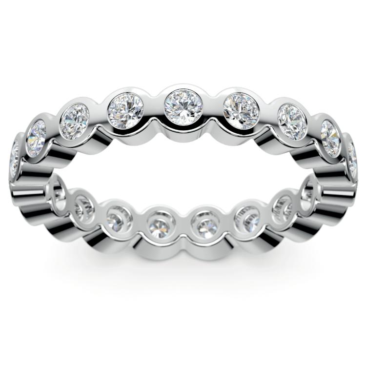 Bezel Diamond Eternity Ring in White Gold (1 ctw) | 02