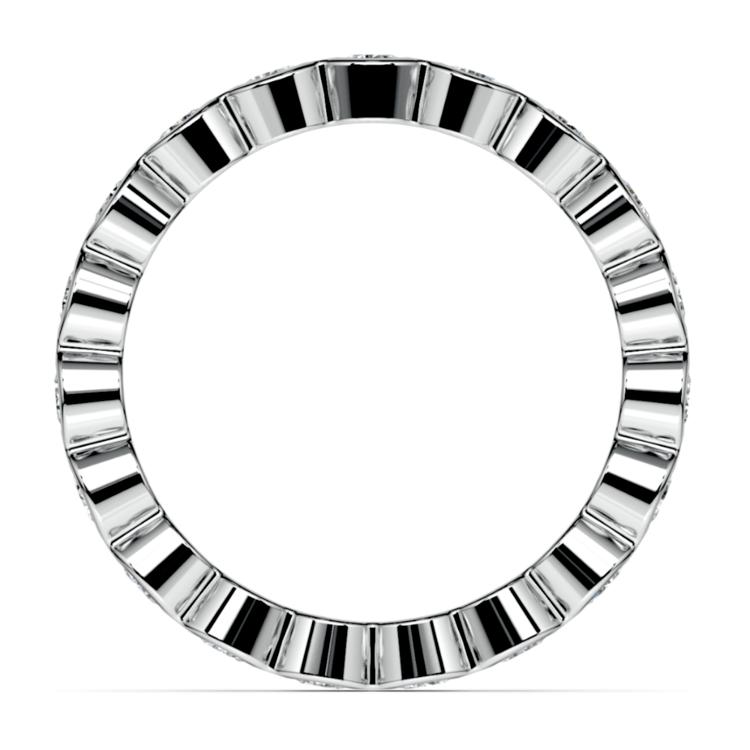 Bezel Diamond Eternity Ring in White Gold (1 ctw) | 03