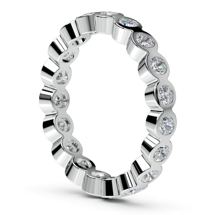 Bezel Diamond Eternity Ring in White Gold (1 ctw) | 04