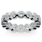 Bezel Diamond Eternity Ring in White Gold (2 ctw) | Thumbnail 02