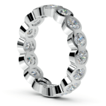 Bezel Diamond Eternity Ring in White Gold (2 ctw) | Thumbnail 04