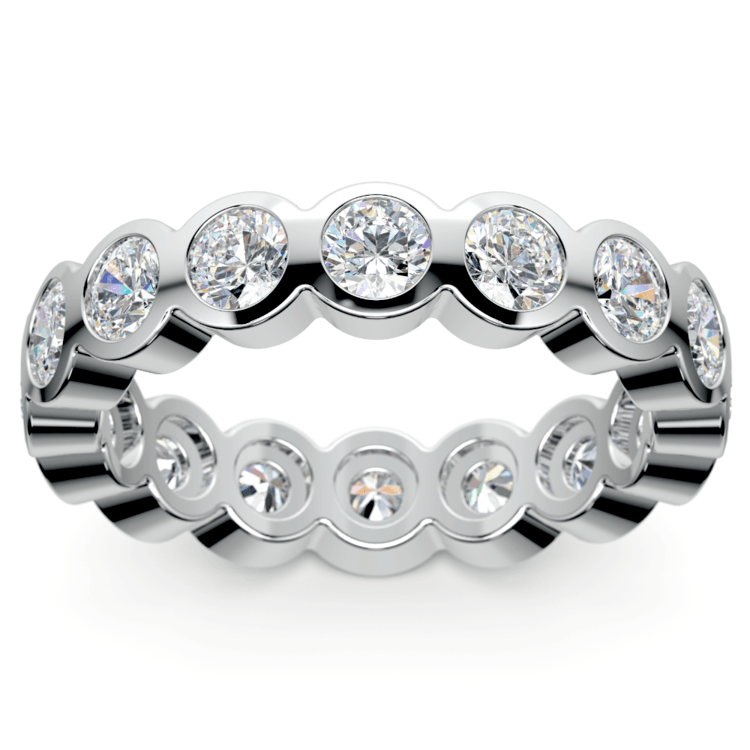 Bezel Diamond Eternity Ring in White Gold (2 ctw) | 02
