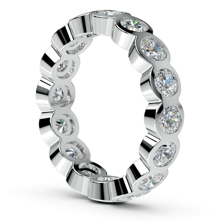 Bezel Diamond Eternity Ring in White Gold (2 ctw) | 04