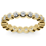 Bezel Diamond Eternity Ring in Yellow Gold (1 ctw) | Thumbnail 02