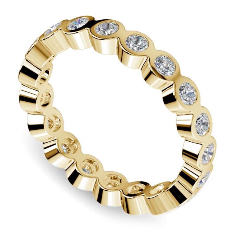 Bezel Diamond Eternity Ring in Yellow Gold (1 ctw) | 01