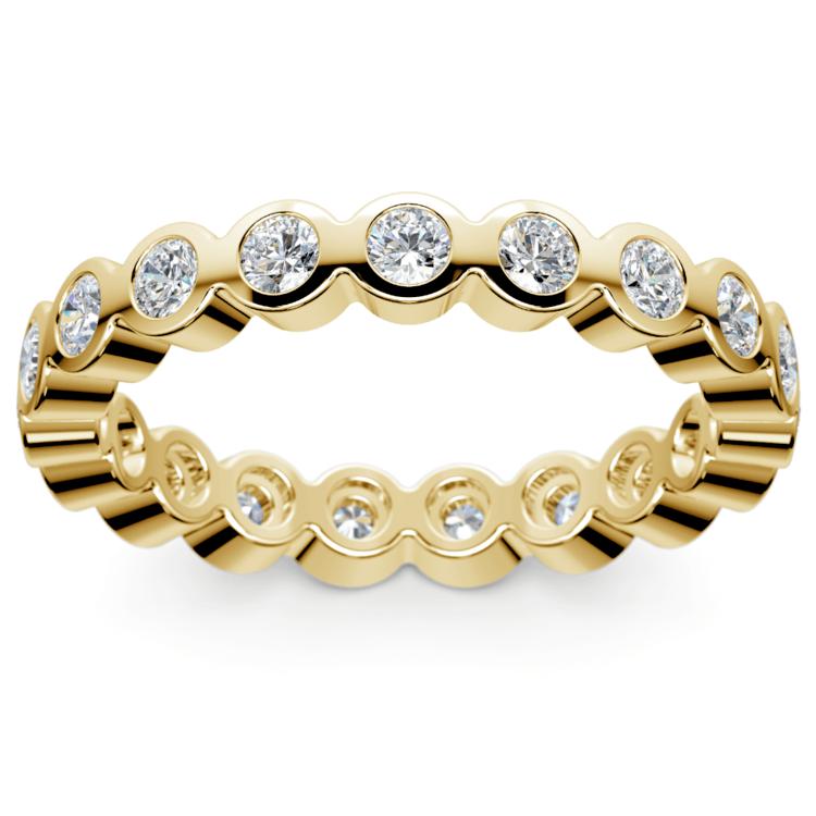 Bezel Diamond Eternity Ring in Yellow Gold (1 ctw) | 02