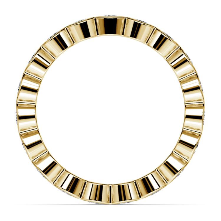 Bezel Diamond Eternity Ring in Yellow Gold (1 ctw) | 03