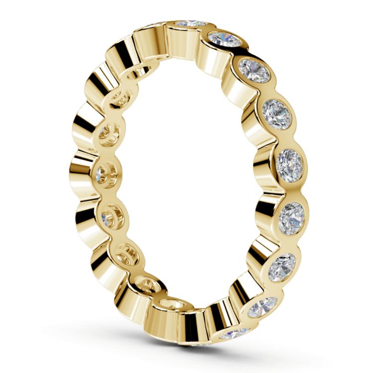 Bezel Diamond Eternity Ring in Yellow Gold (1 ctw) | 04