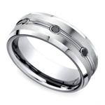 Black Diamond Men's Wedding Ring in Cobalt (7.5mm) | Thumbnail 01