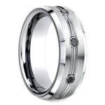 Black Diamond Men's Wedding Ring in Cobalt (7.5mm) | Thumbnail 02