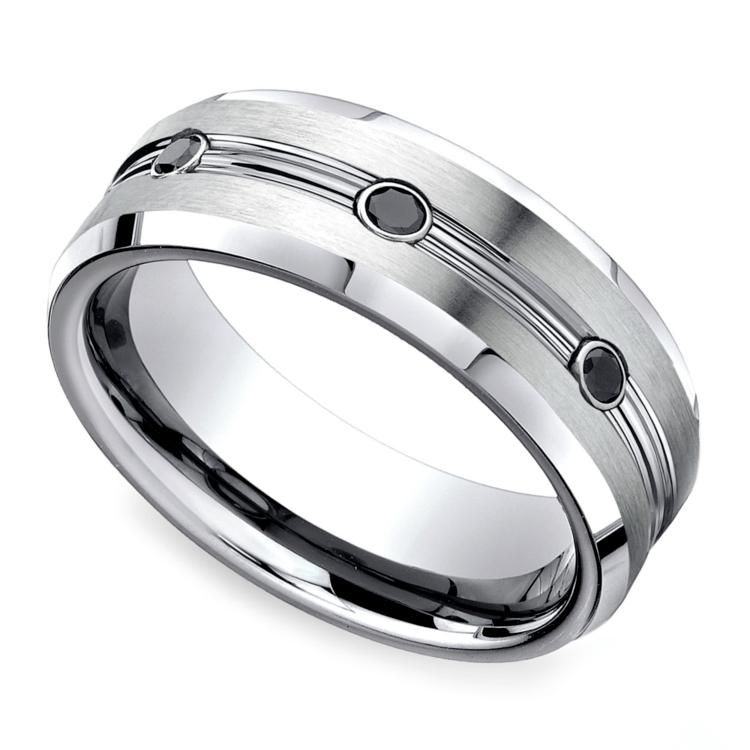 Black Diamond Men's Wedding Ring in Cobalt (7.5mm) | 01
