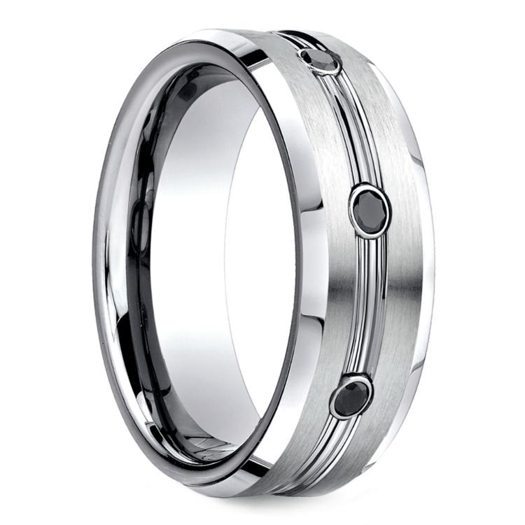 Black Diamond Men's Wedding Ring in Cobalt (7.5mm) | 02