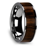 The Canopy - Tungsten Mens Band with Black Walnut Wood Inlay | Thumbnail 02