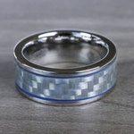 Blue Steel - Cobalt & Carbon Fiber Mens Band | Thumbnail 05