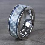 Blue Steel - Cobalt & Carbon Fiber Mens Band | Thumbnail 04