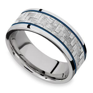 Blue Steel - Cobalt & Carbon Fiber Mens Band