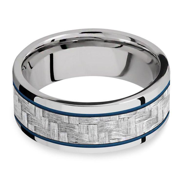 Blue Steel - Cobalt & Carbon Fiber Mens Band | 03