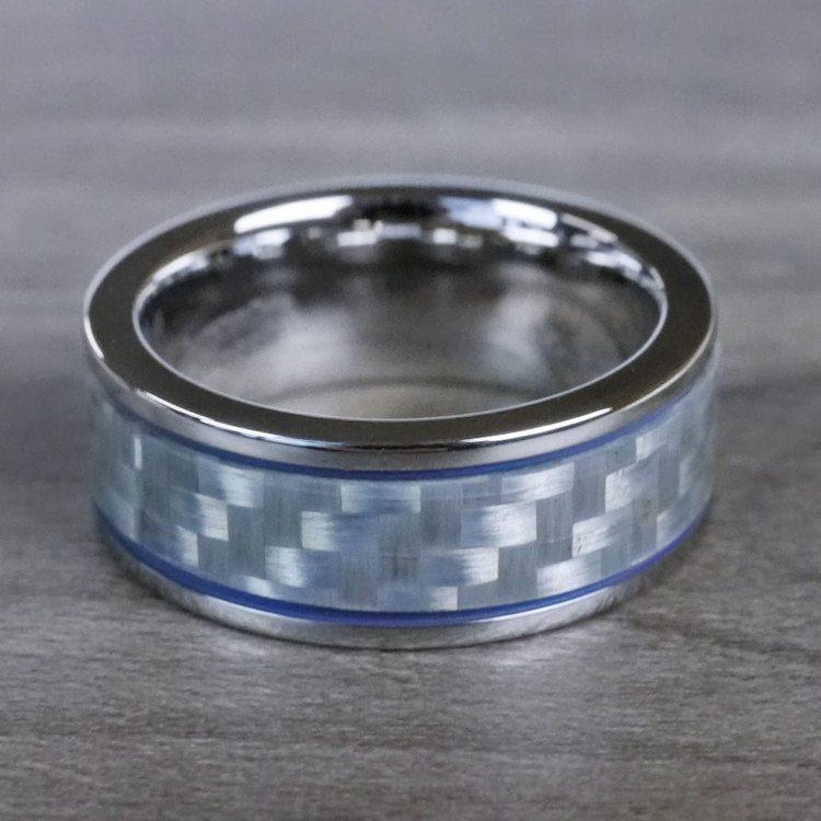 Blue Steel - Cobalt & Carbon Fiber Mens Band | 05