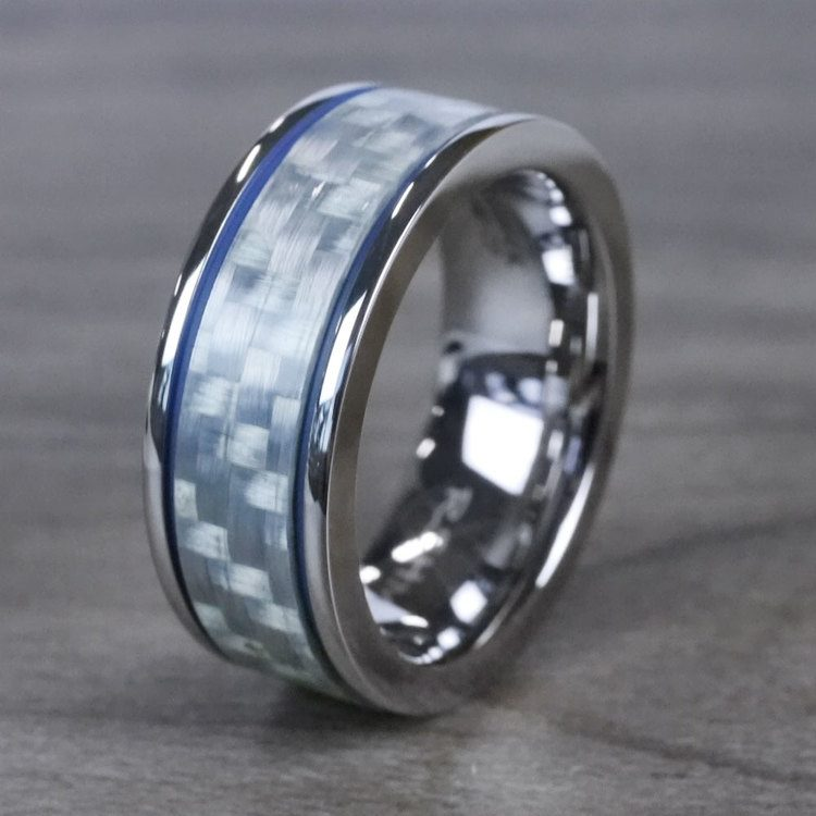 Blue Steel - Cobalt & Carbon Fiber Mens Band | 04