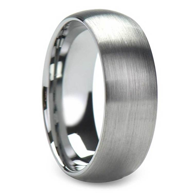 Bristle - 8mm Comfort-Fit Tungsten Mens Band with Brushed Finish | 02