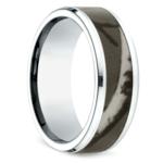 Camo Inlay Men's Wedding Ring in Cobalt   Thumbnail 02