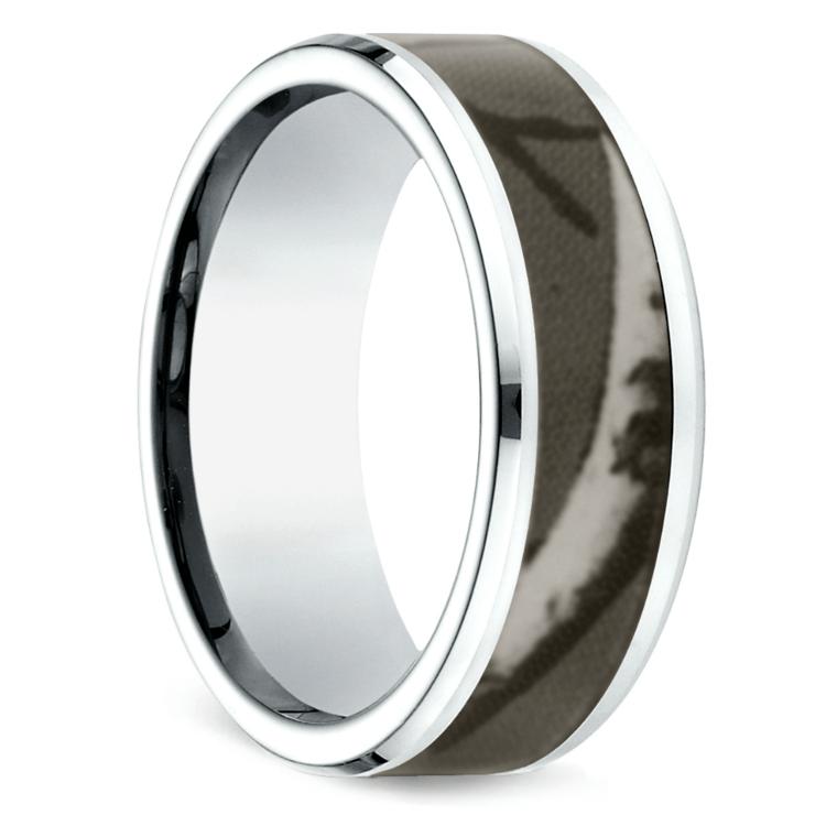 Camo Inlay Men's Wedding Ring in Cobalt   02