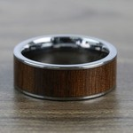 The Canopy - Tungsten Mens Band with Black Walnut Wood Inlay | Thumbnail 04