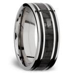 Carbon Fiber Inlay Men's Wedding Ring in Titanium (8mm)   Thumbnail 02