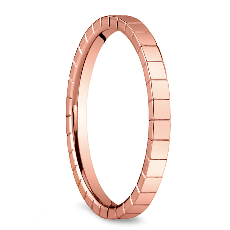 Carved Wedding Ring in Rose Gold | 02