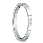Carved Men's Wedding Ring in 14K White Gold  | Thumbnail 02
