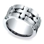 Celtic Cross Men's Wedding Ring in Cobalt | Thumbnail 01