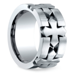 Celtic Cross Men's Wedding Ring in Cobalt | Thumbnail 02