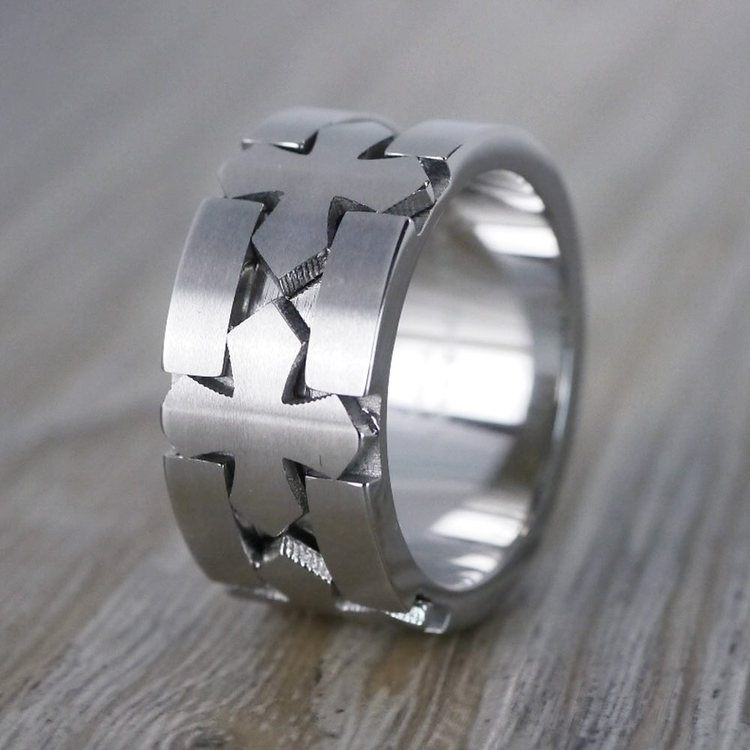 Celtic Cross Men's Wedding Ring in Cobalt | 03