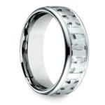Maltese Celtic Cross Men's Wedding Ring in White Gold  | Thumbnail 02
