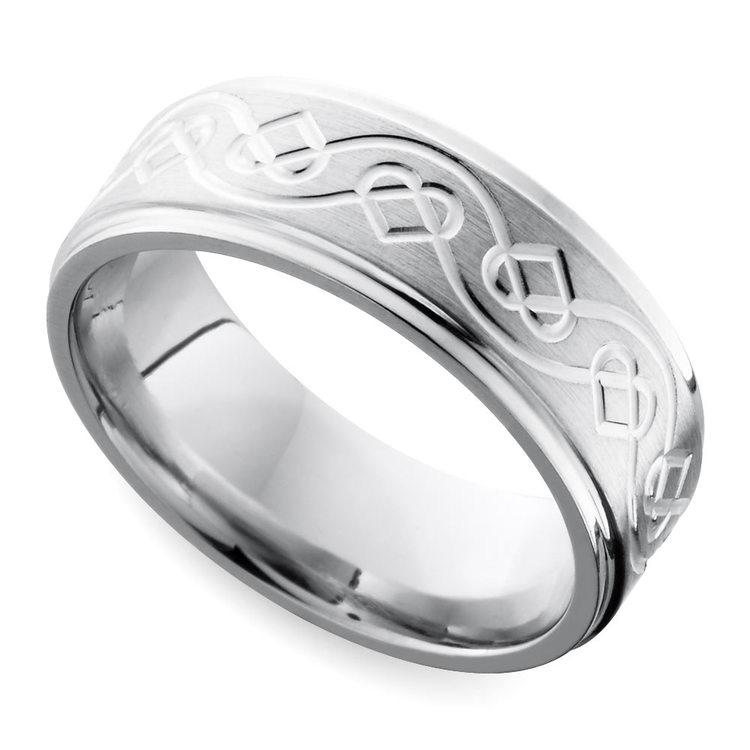 Celtic Heart Wedding Ring in Cobalt (7 mm) | 01