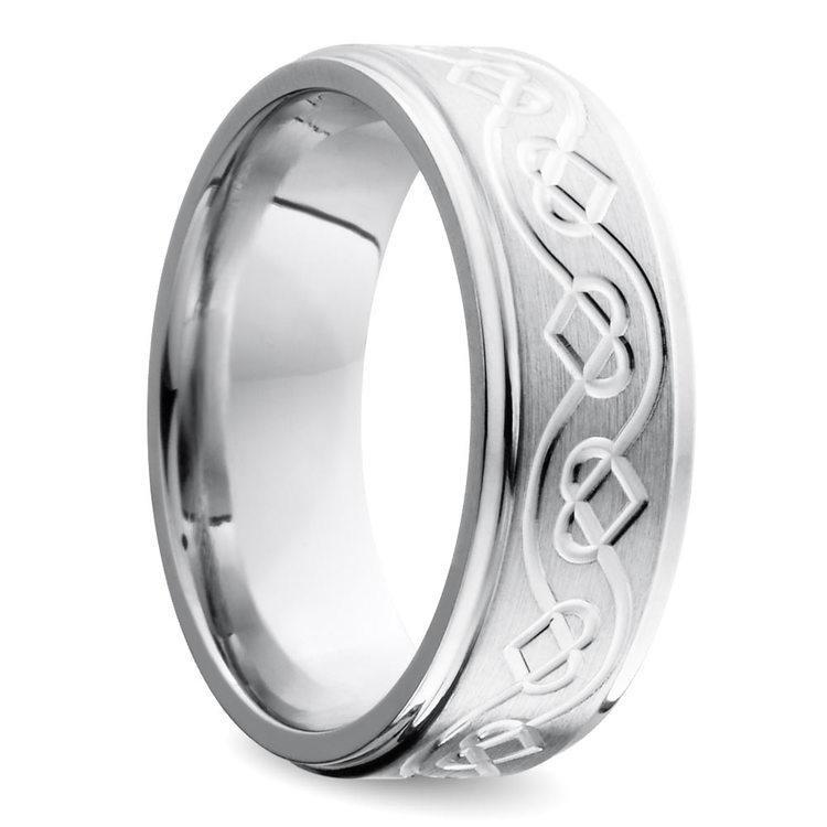 Celtic Heart Wedding Ring in Cobalt (7 mm) | 02