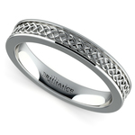 Celtic Knot Men's Wedding Ring in Platinum | Thumbnail 01