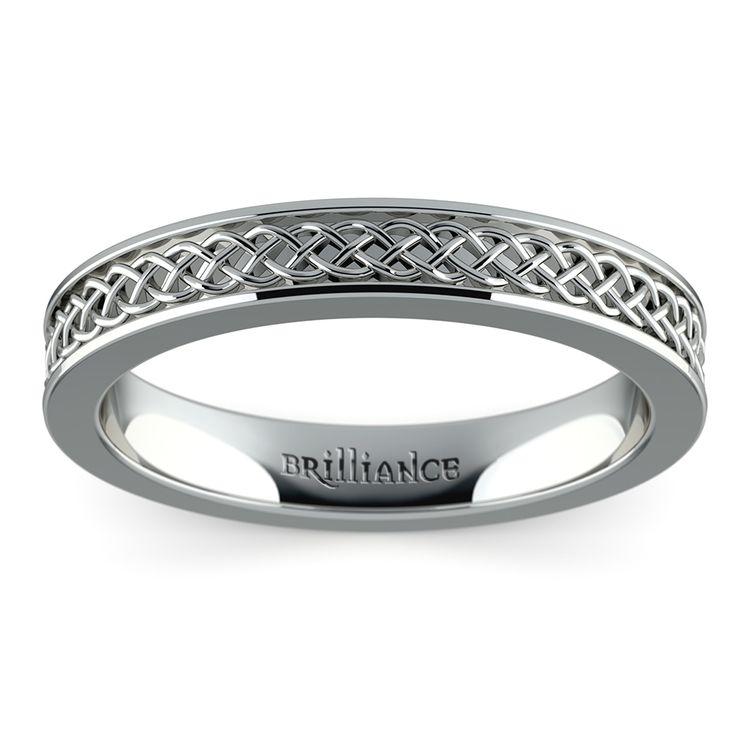 Celtic Knot Men's Wedding Ring in Platinum | 02