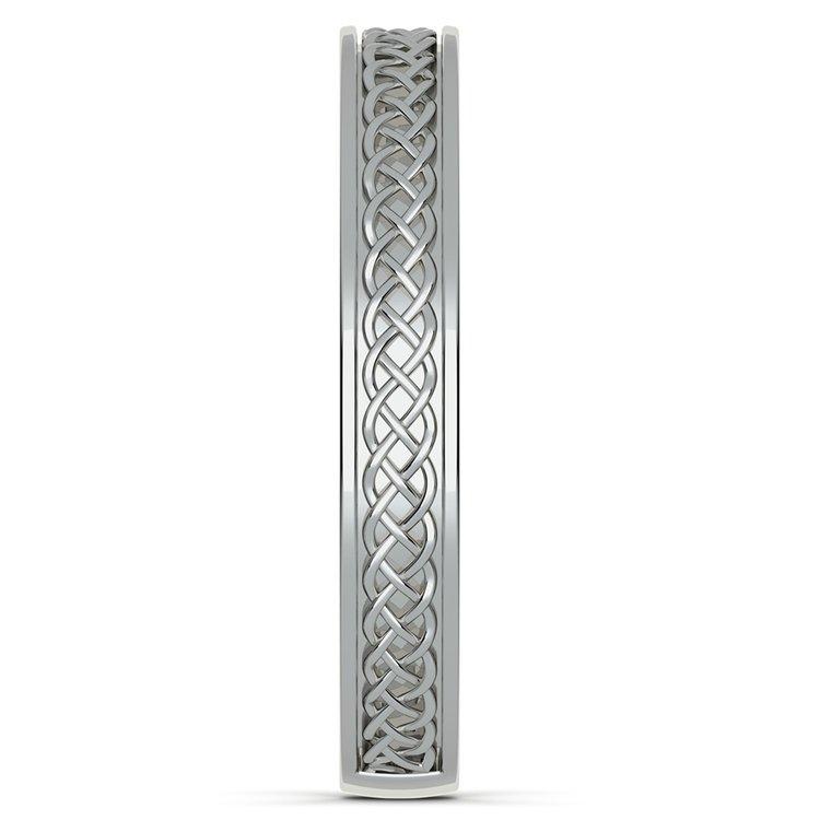 Celtic Knot Men's Wedding Ring in Platinum | 04