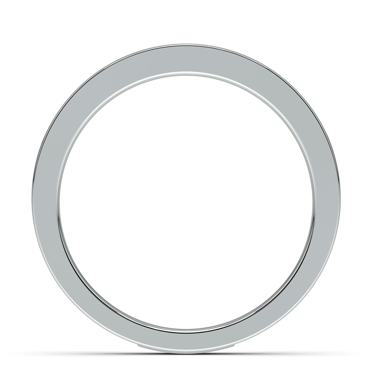 Celtic Knot Men's Wedding Ring in White Gold | 03