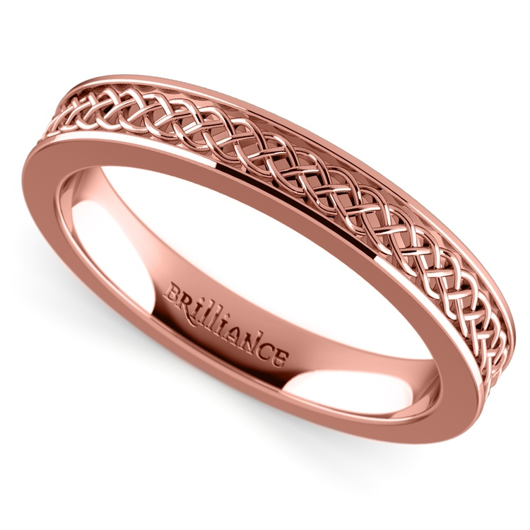 Celtic Knot Wedding Ring in Rose Gold | 01